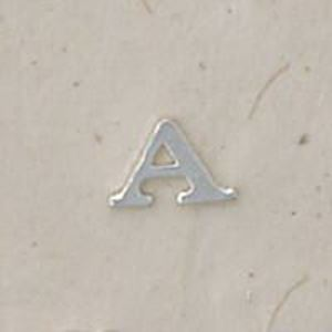 """Picture of Sterling Silver Roman Letter """"A"""" - 1/4 Inch, 24ga"""
