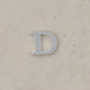 "Picture of Sterling Silver Roman Letter ""D"" - 1/4 Inch, 24ga"