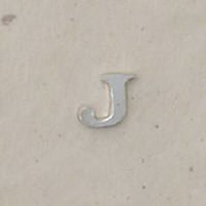 """Picture of Sterling Silver Roman Letter """"J"""" - 1/4 Inch, 24ga"""