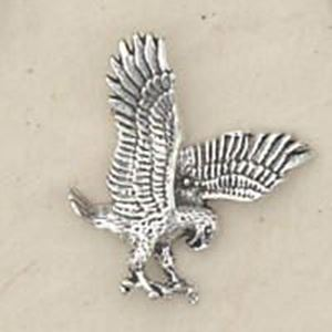 Picture of Sterling Silver Machine Cast Extra Small 3 Dimensional Eagle #22 ~ 18x16mm