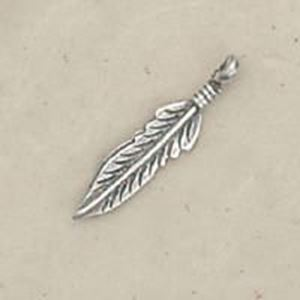 Picture of Sterling Silver Left Feather Machine Cast #2 Small ~        23.5x5.5mm