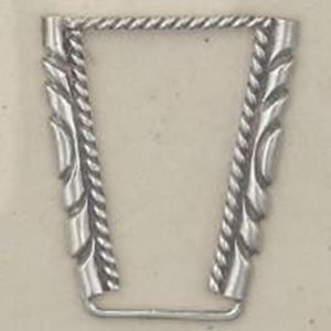 Picture of Sterling Silver Machine Cast Twist Stamped Watch Tip Border