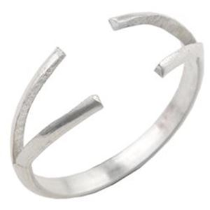 Picture of Sterling Silver 2 Prong Split Ring Shank 10 Gauge H/R Size 6