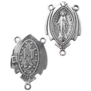 Picture of Sterling Silver Machine Cast Center Rosary Charm