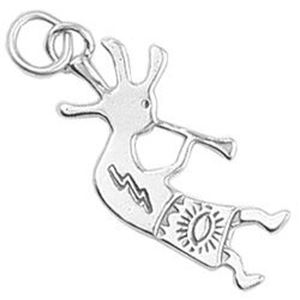 Picture of Sterling Silver Right Loop Kokopelli Charm Machine Cast