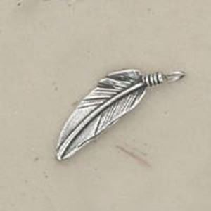 Picture of Sterling Silver Right Looped Feather #4 20.5x4.5mm Machine ~ Cast
