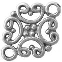 Picture of Sterling Silver Filigree Hearts Link 12mm