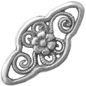 Picture of Sterling Silver Fancy Filigree Link 16mm