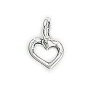 Picture of Sterling Silver Heart Outline Charm 7mm