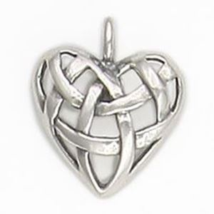 Picture of Sterling Silver Heart Knot Charm 15mm