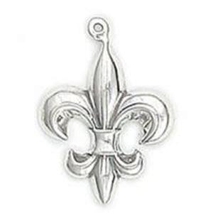 Picture of Sterling Silver Fleur-de-lis Charm, 19mm