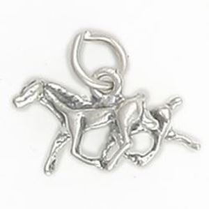Picture of Sterling Silver Running Horses 3D Charm