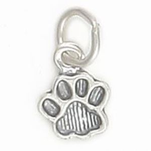 Picture of Sterling Silver Paw Print Charm