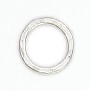 Picture of Sterling Silver Round Hammered Link 10mm. JBB Finding