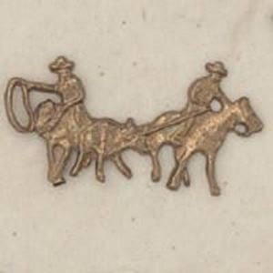 Picture of Red Brass Team Roper Rodeo Cast, 14x28mm