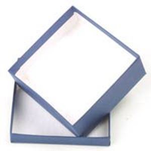 Picture of Navy Blue Cotton Filled Gift Box 3 1/2 x 3 1/2 x 1 1/2 Inch