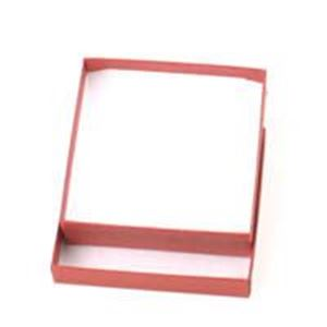 Picture of Brick Red Cotton Filled Gift Box 3 1/2 x 3 1/2 x 1 Inch