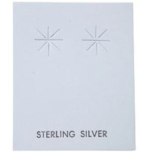 """Picture of Grey Earring Card with """"Sterling Silver"""", 1-5/8"""" x 2"""", Sold per pkg ~ of 100"""