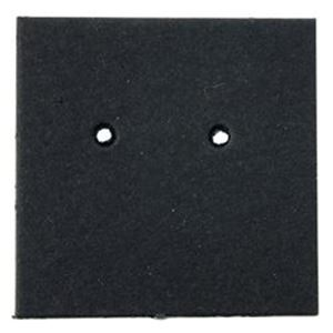 "Picture of Black Earring Card, 1"" x 1"", Sold per pkg of 100"