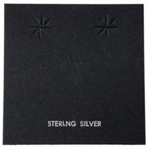 "Picture of Black Earring Card with ""Sterling Silver"", 2-3/8"" x 2-3/8"", Sold per ~        pkg of 100"