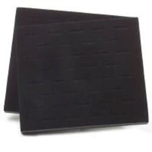 """Picture of Black Flock Ring Pad, 36-Stagger Ring Slots, 7-3/4"""" x 6-3/4"""" x 5/8"""" ~ H"""