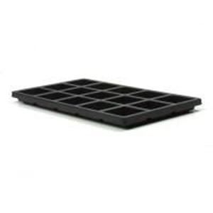 "Picture of Black Plastic Tray Liner, 15 compartments, 2-3/8""x 2"" x ~        7/8"""