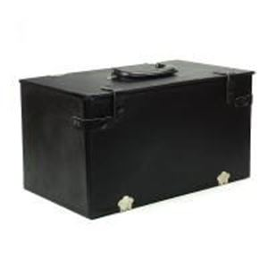 """Picture of Black Vinyle Textured Economy Carry Case, Holds 8"""" Inch Trays, ~        15-1/8"""" x 9"""" x 8"""" H"""