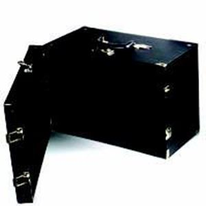 """Picture of Enchanted High Quality Black Vinyl Wood Jewelry Carry Case, 16"""" L x ~ 9-1/2"""" W x 10"""" H"""