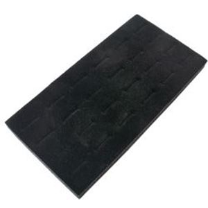"Picture of Black Flock Ring Pad, 24 Straight Ring Slots, 7-1/2"" x ~        3-3/4"""
