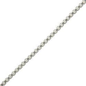 Picture of Sterling Silver Box Chain 18 Inch x 0.70mm. Made in Italy