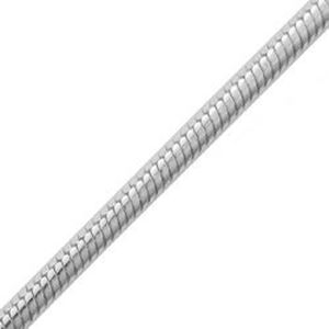 Picture of Sterling Silver Snake Round Chain 20 Inch x 1.6mm