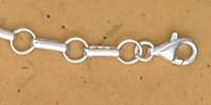 """Picture of Sterling Silver Long And Short Chain 4.8mm, 4"""" Extension"""