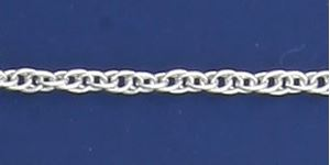 Picture of Sterling Silver Medium Rope 15 Bulk Chain 1.8mm