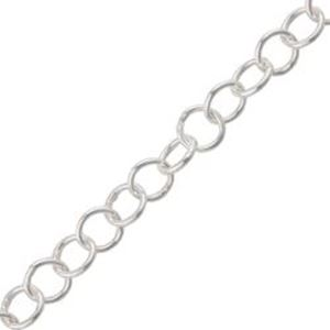 Picture of Sterling Silver Round Cable Bulk Chain 3.5mm, Sold by the ~ Foot