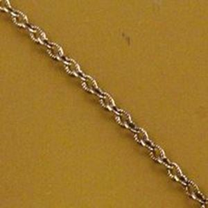 Picture of Sterling Silver Oxidized Cable Stamp Bulk Chain 1.9mm, Sold by the ~ Foot