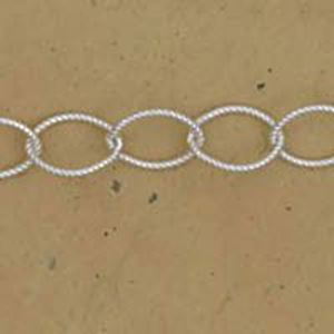 Picture of Sterling Silver Cable Twist Bulk Chain 6mm, Sold by the Foot