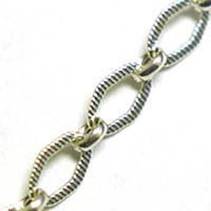 Picture of Sterling Silver Diamond Stamped Bulk Chain 3.7mm, Sold by the ~        Foot