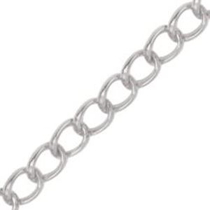 Picture of Beadalon Silver Plated Curb Bulk Chain, 4.1mm, 6.5 Foot ~        Lengths