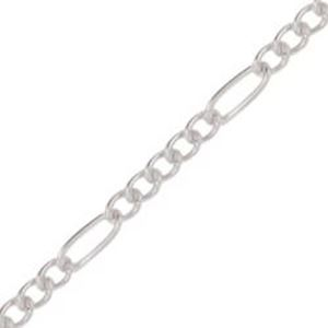 Picture of Beadalon Silver Plated Figaro Bulk Chain 2.2mm, Sold per 6.5 Foot ~        Lengths