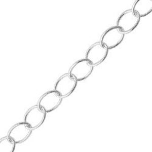 Picture of Silver Plated Cable Bulk Chain 5mm, Sold per 4 Foot Lengths