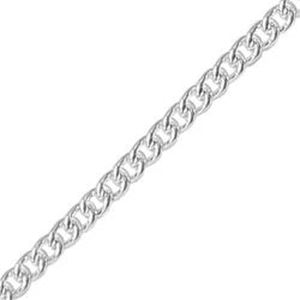 Picture of Silver Plated Curb Bulk Chain 1.6mm, Sold per 100 Foot Spool