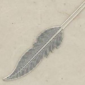 Picture of Sterling Silver Medium Die Struck Feather, 39x7mm