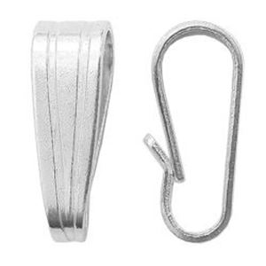 Picture of Sterling Silver Pendant Bails Large 7.7x2.5mm<br />10 Bails