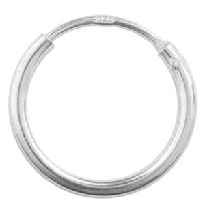 Picture of Sterling Silver Ear Hoop 7/16 Inch (11mm) .05 Inch