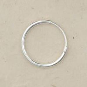 Picture of Sterling Silver Ear Hoop 1/2 Inch (13mm) .05 Inch Wire