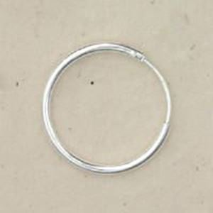 Picture of Sterling Silver Ear Hoop 5/8 Inch(15mm) .05 Inch Wire