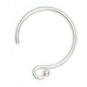 Picture of Sterling Silver Circle Ear Wire 14mm 0.024""