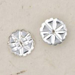 Picture of Sterling Silver Ear Clutch Extra Large 0.038 Inch Hole