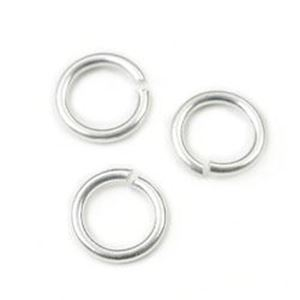 "Picture of Sterling Silver Round Jump Rings, Outer Diameter 5.5mm, ~        0.035""(19ga.)<br />10 Jump Rings"