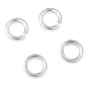"""Picture of Sterling Silver Round Jump Rings, Outer Diameter 4mm, 0.025"""", 22 ~        Gauge Wire, , Sold per pkg of 10"""